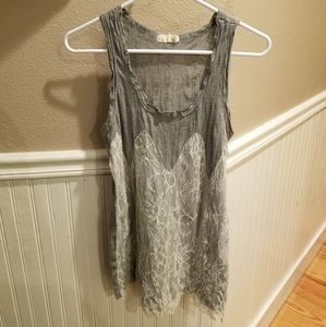 Pins and Needles Lace Tank